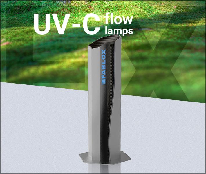 UVC flow lamps
